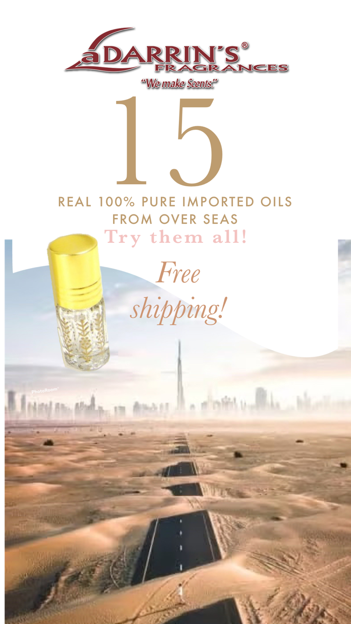 Ad with imported oils bottle2021
